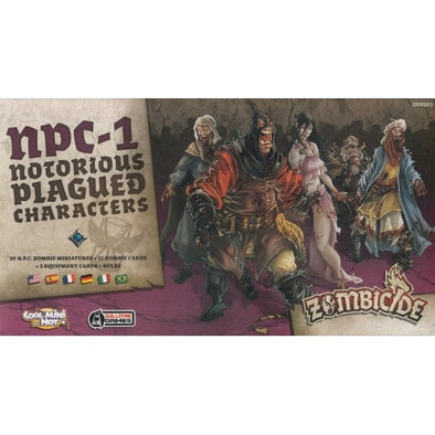 Buy Zombicide - Black Plague - NPC-1 Box - Notorious Plagued Characters and more Great Board Games Products at 401 Games