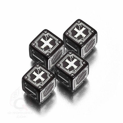 Buy Dice Set - Q-Workshop - Fate Dice - Black and more Great Dice Products at 401 Games