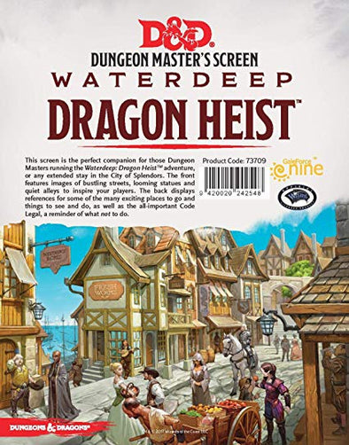 Buy Dungeons & Dragons - 5th Edition - Dungeon Master's Screen - Waterdeep: Dragon Heist and more Great RPG Products at 401 Games