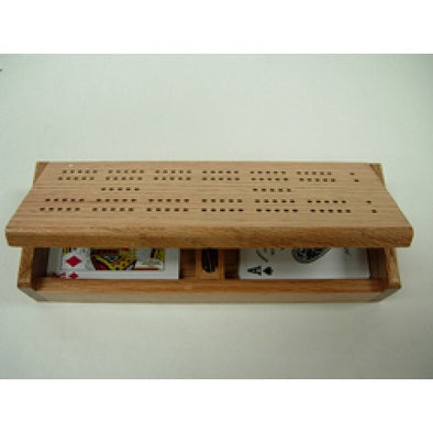 Buy Cribbage - Board case with 2 decks of 100% plastic playing cards and more Great Board Games Products at 401 Games
