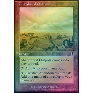 Buy Abandoned Outpost (Foil) and more Great Magic: The Gathering Products at 401 Games