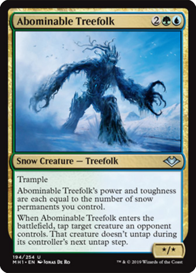Buy Abominable Treefolk (MH1) (Pre-Order) and more Great Magic: The Gathering Products at 401 Games