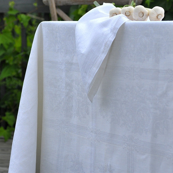 Linen Way Natalie Tablecloths White