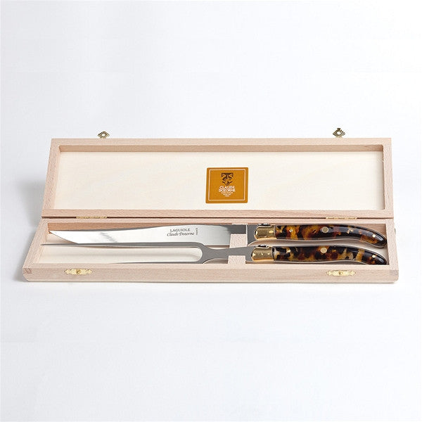 Claude Dozorme Laguiole Carving Set - Flake