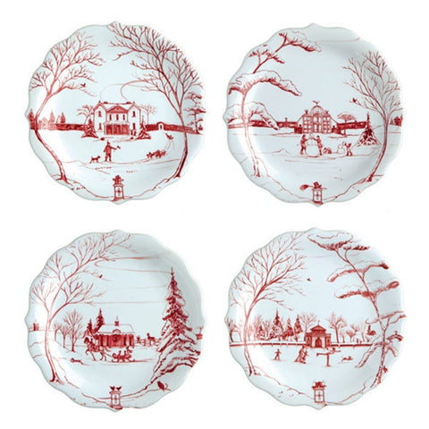 Juliska Country Estate Party Plates - Winter Frolic