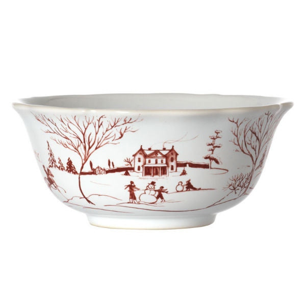 Juliska Country Estate Salad Cereal Bowl - Winter Frolic