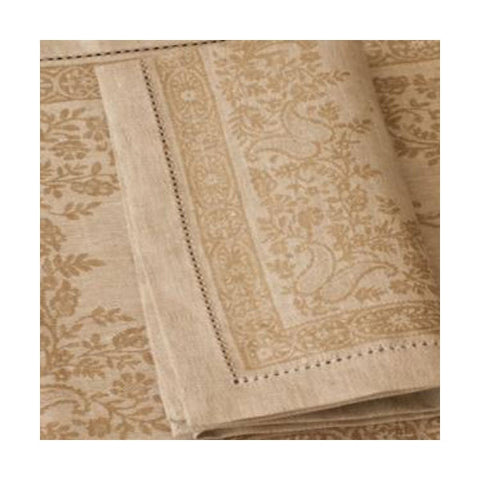 Linen Way Beige Paisley Tablecloths