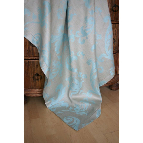 Linen Way Isabelle Tablecloths - Turquoise & Silver