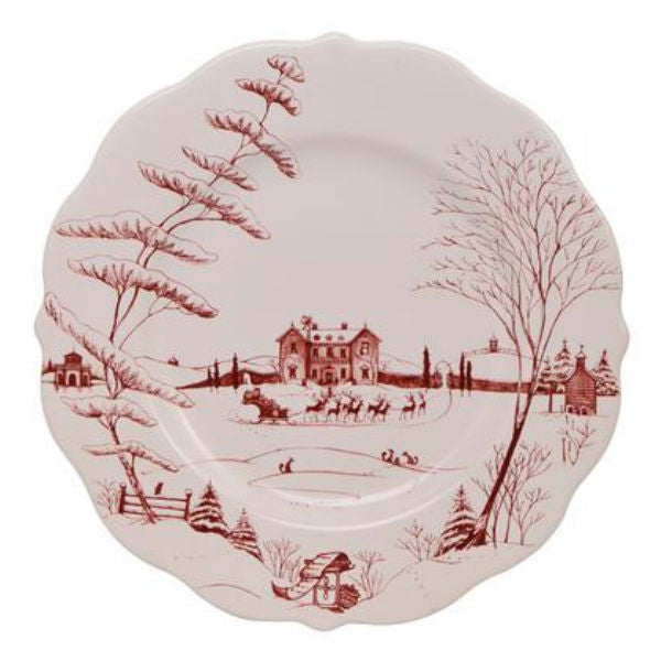 Juliska Country Estate Scallop Dinner Plate- Winter Frolic