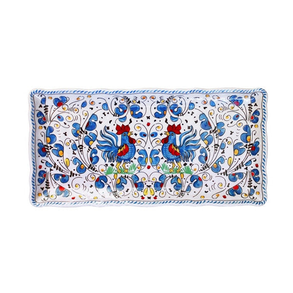 Le Cadeaux Biscuit Tray Rooster Blue