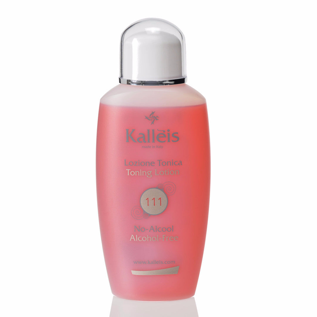 Kallèis Toning Lotion, Alcohol Free removes impurities (pollutants, makeup residue and sebum), balances the skin's natural pH level, strengthens, stimulates and regulates skin hydration for a fresh, radiant complexion.