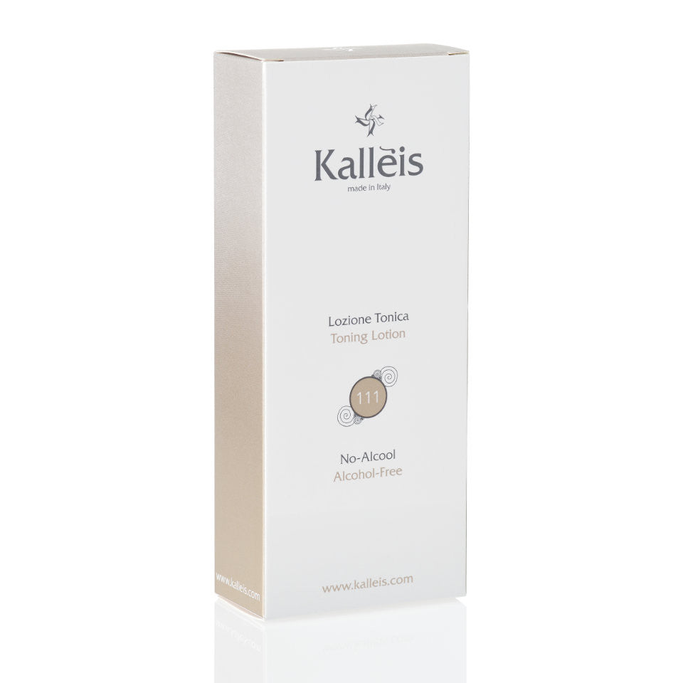 Kalléis Alcohol Free Toning Lotion includes natural ingredients of selected plant and herb extracts, vitamins and vegetable biostimoline.