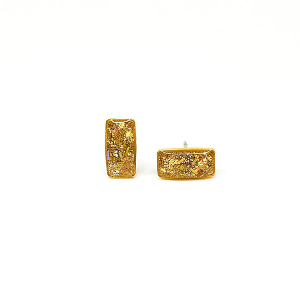 Gold Rectangle Studs