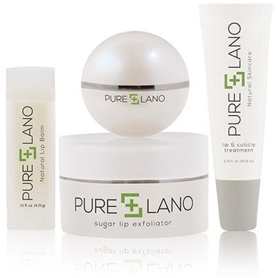 Pure Lano - Lip Care Set (Lip Treatment, Balm Stick and Cuticle Treatment)