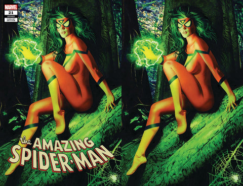 AMAZING SPIDER-MAN #21 COMICXPOSURE MIKE MAYHEW 2 PACK VIRGIN EXCLUSIVE