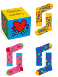 Happy Socks Keith Haring Collection Colorful Cotton Dress Socks in Gift Box, Set of 3