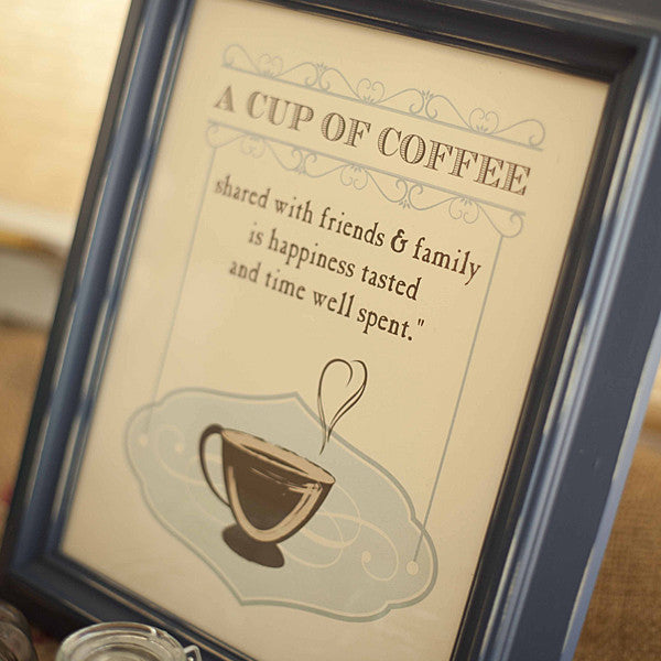 A Cup of Coffee Art Print // Vintage Style