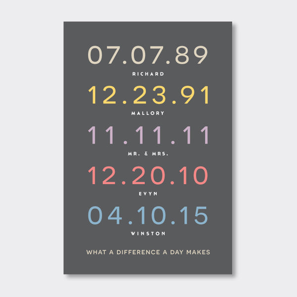 Special Dates Print // Multi Colors