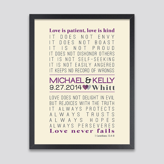 Personalized Love is Patient Print // 1 Corinthians 13