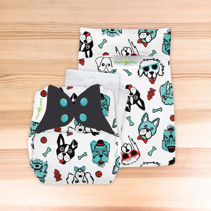 bumGenius Original One-Size Cloth Diaper 5.0 - The Doodles Collection