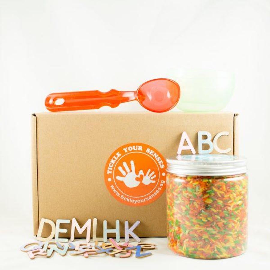 Tickle Your Senses - Coloured Rice Alphabet Kit