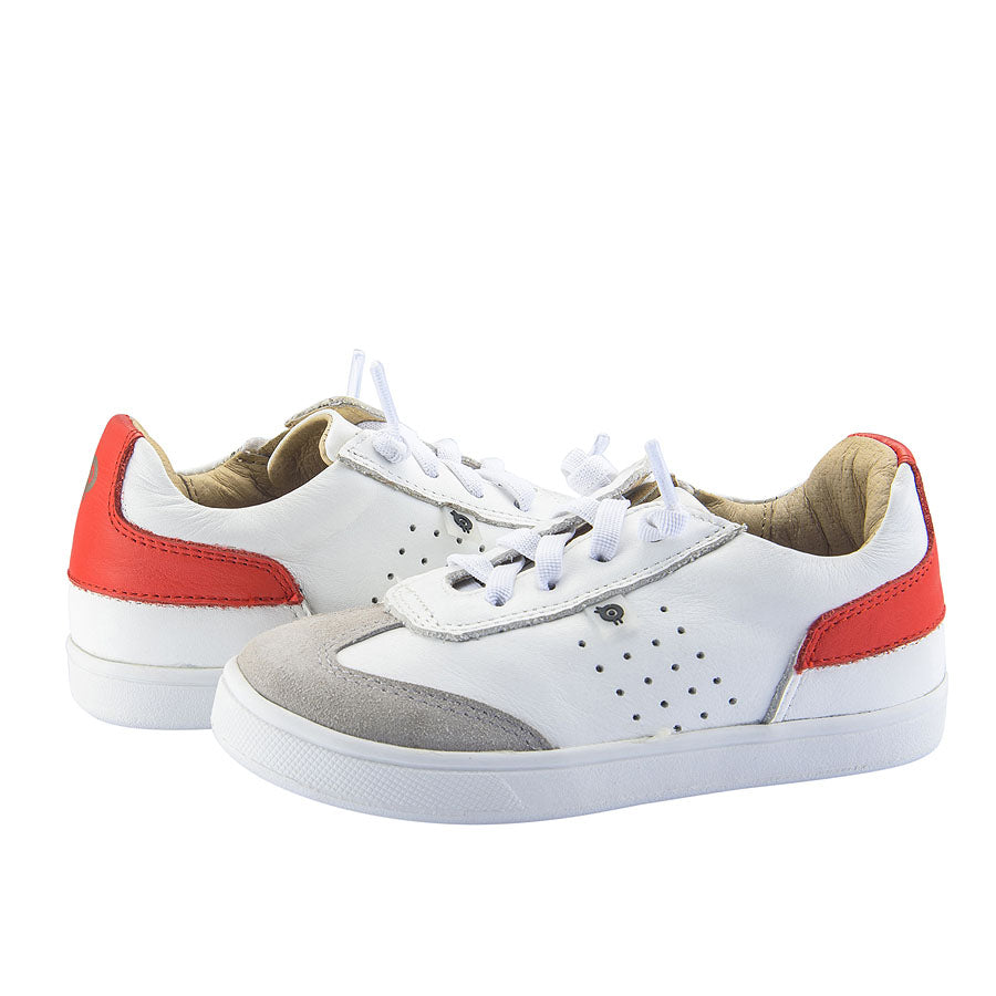 Old Soles Byron Bay Snow Bright Red Boys Sneakers