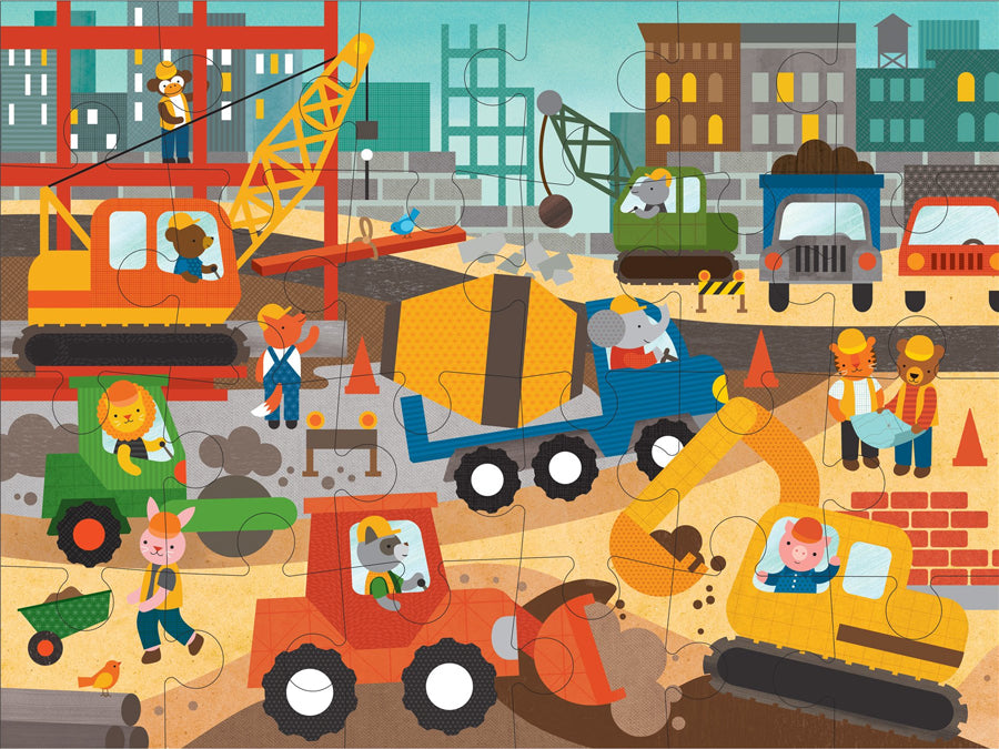 Petit Collage Construction Site Floor Puzzle Kids Toys