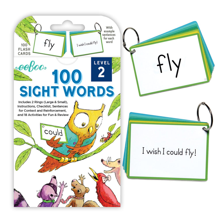 eeBoo - 100 Sight Words (Level 2) Flashcards Education Games Singapore
