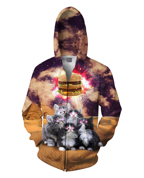 Worship the Burger Zip-Up Hoodie
