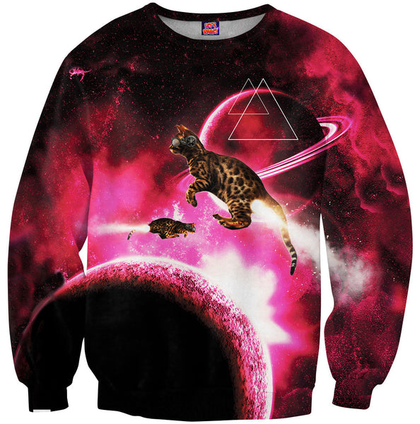 Space Cat Rocket Blast Sweatshirt