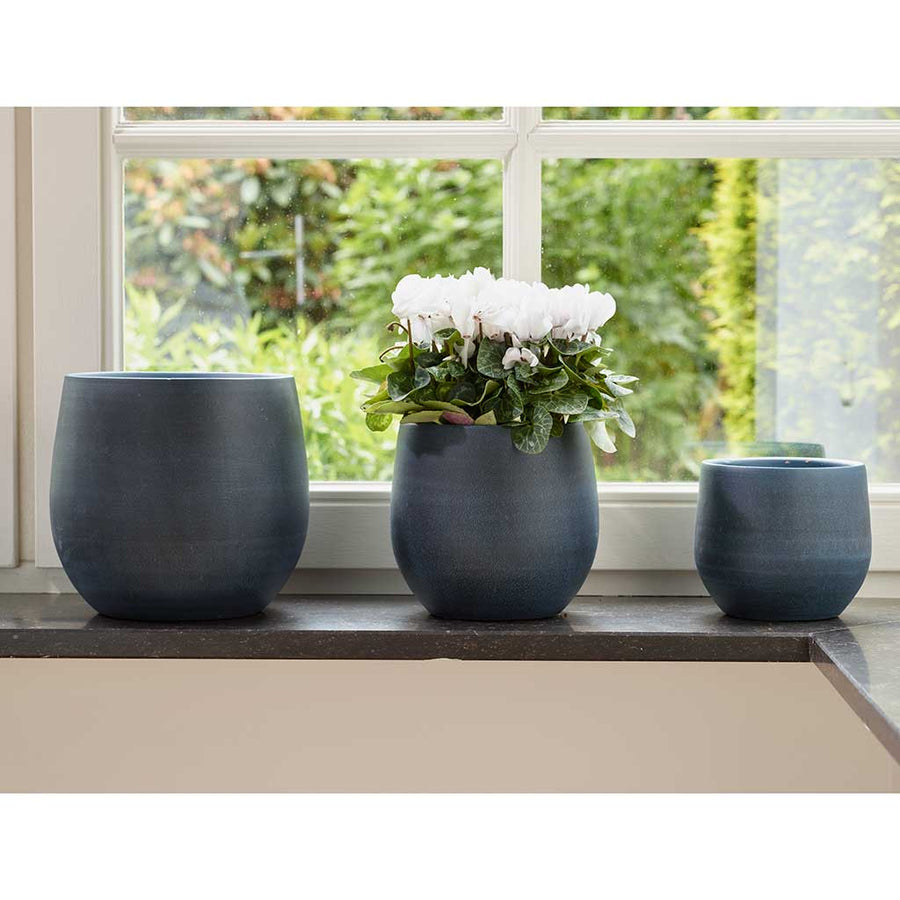 Esra Plant Pot - Dark Blue - Small Medium