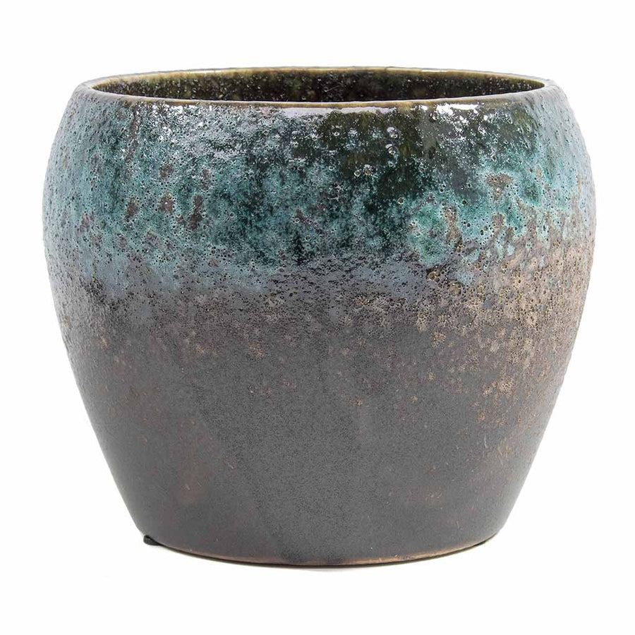 Liza Plant Pot - Blue Black 15cm