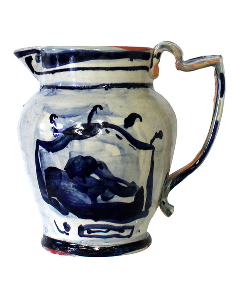 Big Table Jug Blue No5