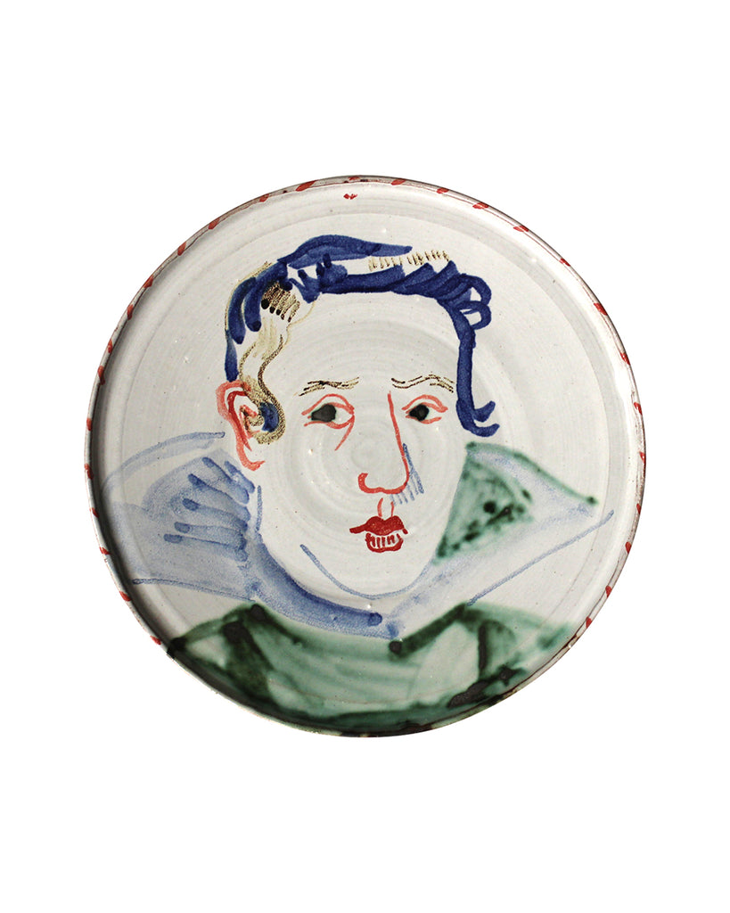 Painted Face Plate: Don Felipe