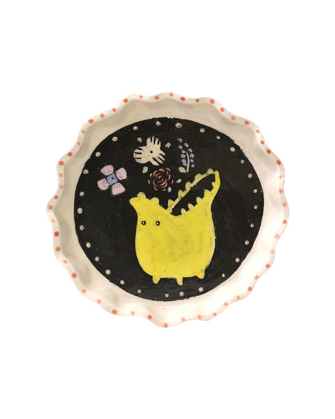 Little Fluted Dish (Yellow Monster)