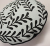 circular Cushion: Sprig Pattern (Mint Blue)