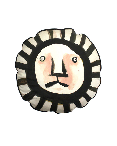 circular Cushion: Stripy Lion