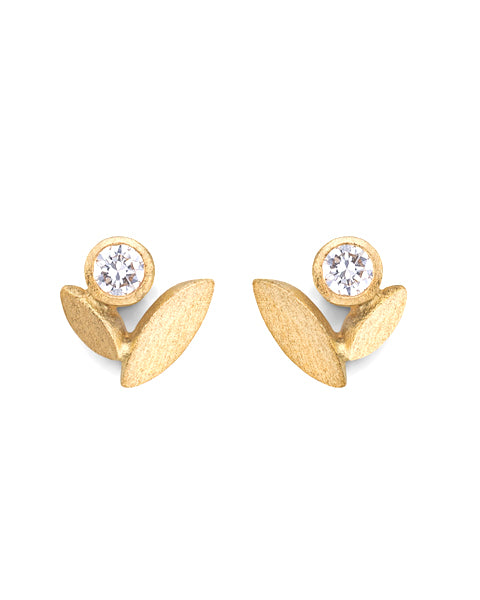 V. WALKER Tulip Studs (Diamonds)