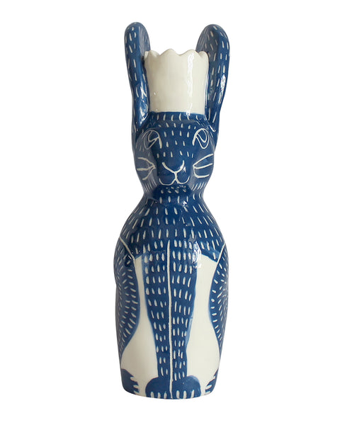 Blue Hare Candle Holder