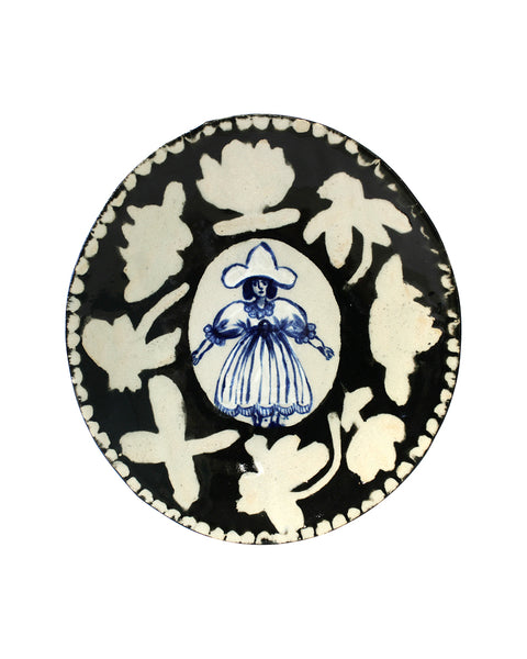 Delft Woman PLATE No19
