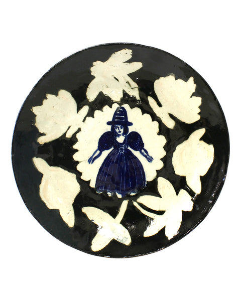 Delft Woman Plate No32