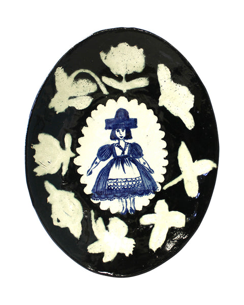 Delft Woman PLATE No38