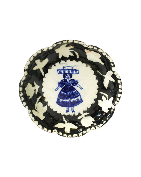 Delft Woman PETAL PLATE No7