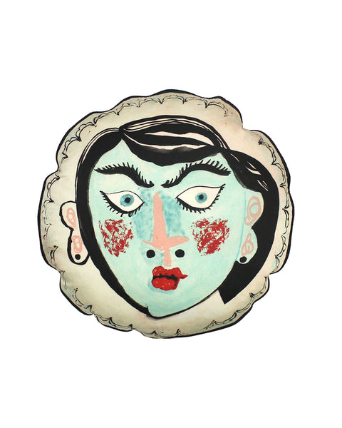 circular Cushion: Deco Lady