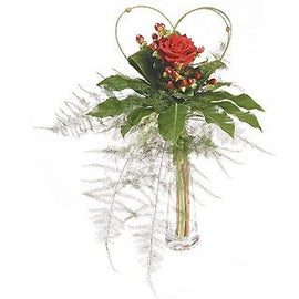 Single Rose Vase, Flowers - Oasis Florists