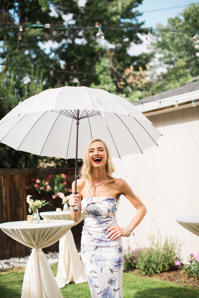 Ivory Large 16-Panel Umbrella