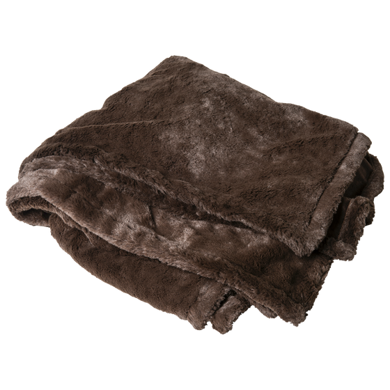 Blanket rental - chocolate faux fur throw