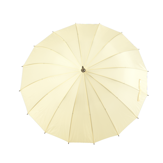 Cream Large 16-Panel Umbrella