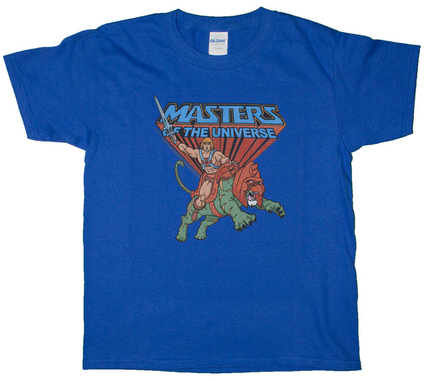 Big Boys Masters Of The Universe Ride Into Battle Youth Size T-Shirt