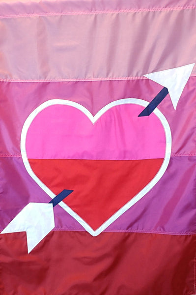 Heart with Stripes - Islander Flags of Kitty Hawk, Inc.